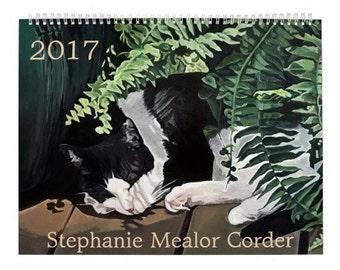 Stephanie Mealor Corder 2017 Feline Fancies Cat Art Calendar