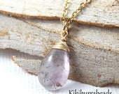 Mothers Day Sale Moss Amethyst Necklace, February Birthstone Necklace, Super 7, Gemstone Necklace, Natural Gemstone