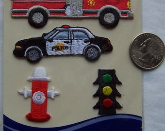 Store Closing - See shop announcement - Emergency Vehicles/Traffic - Wrights - Applique - NEW - Iron On - 4 pcs - YOU Pick 1 thru 18