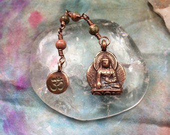 The Loving Kindness Mala in Copper and Unakite. A Fundraiser for Alzheimers Research