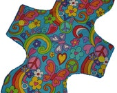 Moderate Core- Peace and Love Reusable Cloth Overnight Pad- WindPro Fleece 10.5 Inches (26.5 cm)