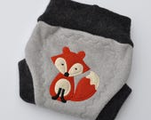 Custom - Small Fox Recycled Wool Soaker Cloth Diaper Nappy Cover