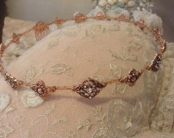 Pink Gold Royal Renaissance one of a kind Fantasy Tiara