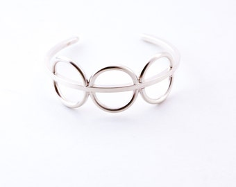 "ON SALE this week - sculptural sterling silver bracelet - ""Acoustic cuff"""