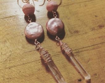 Pink Goddess Earrings