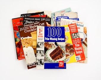 Vintage Cookbook Set of 16 Pillsbury Bake Off Recipe Booklets 1952 to 1970 VGC