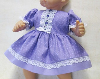 Lavender 'n Lace Dress and Panties for Bitty Baby Doll