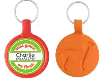 Coat Game on Fleek Pet ID Tag, Available in 8 Colors