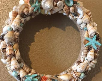 Del Mar Seashell Wreath