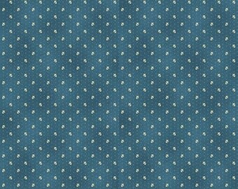 NEW Liberty Hill Quilt Fabric 100% Cotton Americana  One Yard Cut of Coordinating Blue Print