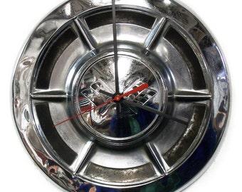 1959 Corvette Clock from Retro Chevy Hubcap - Hub Cap