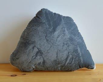 SALE - Silkscreen Rock Pillow