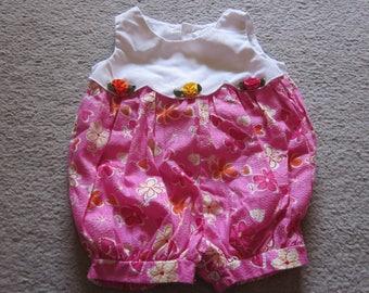 B.T. Kids Vintage style Toddler Baby girls Sunsuit Romper 12M
