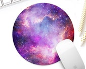 Colorful galaxy mouse pad, Cosmic watercolor nebula mousepad, Outer Space mouse mat office decor desk accessory, new job gift, coworker gift