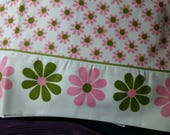 Vintage Sweet flat  double bed sheet  pink flowers new out of package