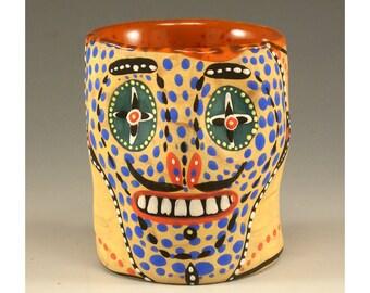 Del - Ceramic Skull Cup Shot Glass by Jenny Mendes