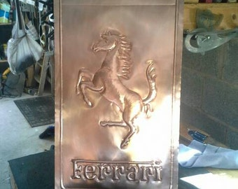 Hand Hammered Copper Signs