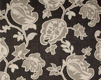 Custom made Designer fabric shower curtain Magnolia Arabella flannel brown