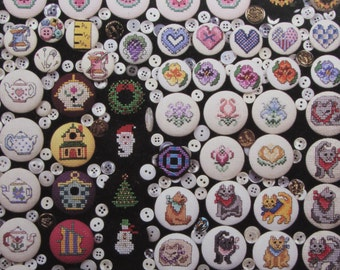 De-Lightful Button Covers/Counted Cross Stitch Patterns by Hickory Hollow/Cross Stitch Button Covers
