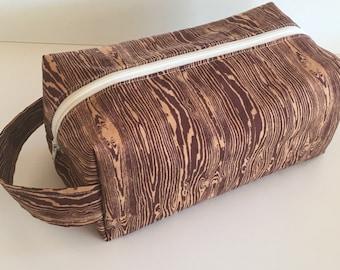Boy Toiletry Bag, Kids Toiletry Bag, Girl Toiletry Bag, Vacation, Toiletry, Travel Bag - Wood