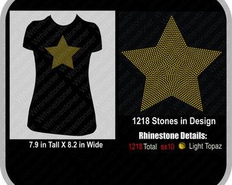 Large Star Rhinestone T Shirt
