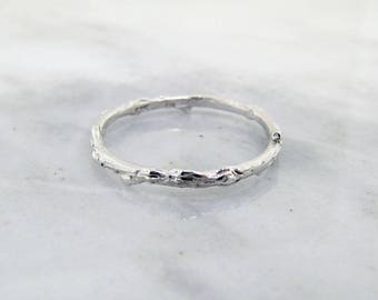 Slender Twig Band, in Sterling