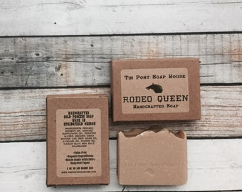 Rodeo Queen Handcrafted Ole Fashioned Lye Soap Sandalwood and Rose 4.5oz Bar