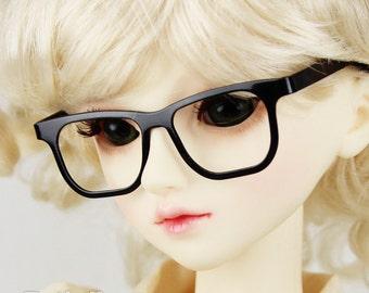 New fashion Full-Rim Dolls Glasses  fit 1/3 BJD SD Super Dollfie  Black