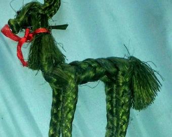 Vintage Woven Christmas Reindeer