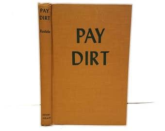 Hollow Book Safe Pay Dirt Cloth Bound vintage Secret Compartment Security hiding place