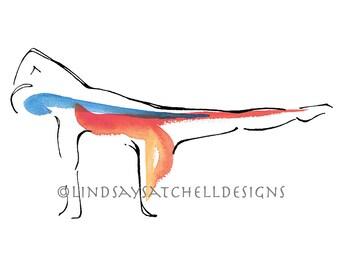 Kneeling Side Kick   Pilates Art Print, Pilates Gift, Pilates Studio Decor, Inspiration Art, Gifts, Pilates Inspiration