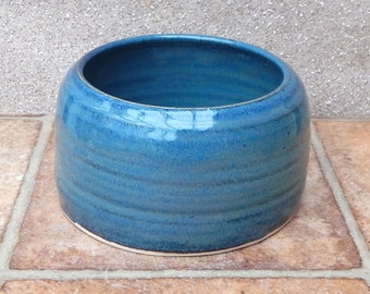 Spaniel water bowl for long eared dog hand thrown stoneware pottery ceramic
