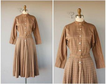 50s Shirtwaist Dress | Vintage 1950s Day Dress | 1950s Dress | 50s Cotton Dress | 1950s Belted Dress | Vera Maxwell Dress