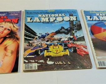 Vintage National Lampoon Humor Magazine 1981 Lot of 3
