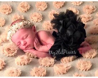 BLACK TUTU,  Bloomers, ruffles all around,Chiffon Baby Bloomer, Tutu Diaper cover,newborn tutu,photo prop, newborn bloomer- SALE- ready to
