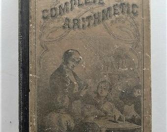 1870 Arithmetic Antique School Book