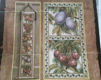 Fruit Bell Pull Counted Cross Stitch Pattern