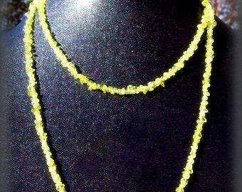 Green Peridot necklace- Lightness and Beauty, peridot jewelry, abundance crystal jewelry