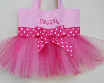 Naptime 21, Embroidered Dance Tutu Bag, tutu tote bag, Pink Tote bag, dance bags, Tutu Tote Bag, tutu ballet bag, tutu dance bag TB40 CH