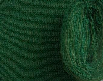 EMERALD SILK HEATHER -- Sport Weight -- Silk/Cotton/Merino yarn (100 gr /320 yards)
