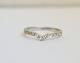 Diamond Wedding Band, Eternity Ring, White Gold Ring, Eternity Diamond Band, Wedding Band, Wedding Ring, Wedding Ring Fits Engagement Ring