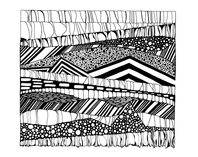 Layers of Earth II Pen and Ink