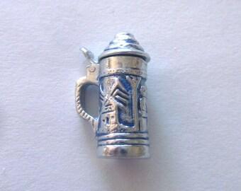 Sterling Silver Beer Stein Charm Beer Mug