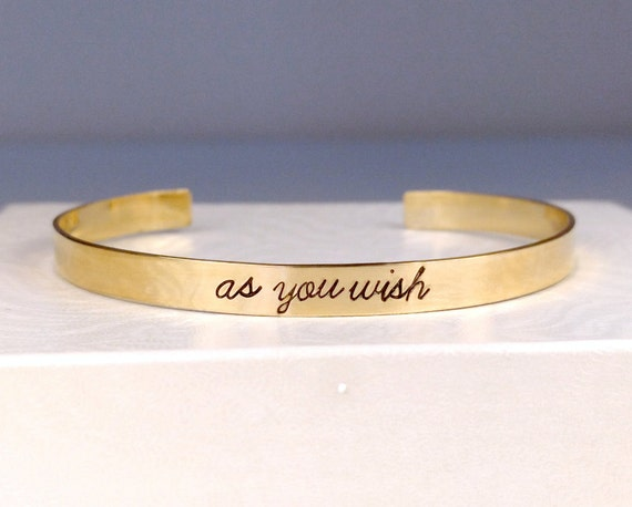 Personalized Gold Bracelet, Personalized Rose Gold Cuff, Customized Hand Stamped Message Bracelet, Custom Jewelry, Personalized Jewelry