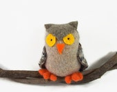 waldorf toy, stuffed owl, stuffed animal, stuffed toy, waldorf owl, cute natural owl, toy bird,