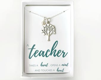 End of Year Teacher Gift - Kindergarten Teacher Gift - End of Year Gift - Teacher Appreciation Gift - Custom Teacher Necklace - Teacher Gift