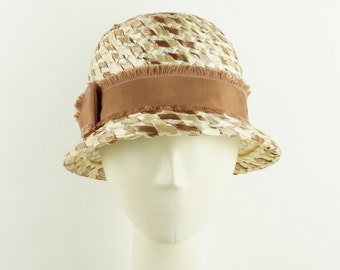 White Straw Hat Women, Summer Hat, Sun Hat, White Hat, Vintage Style Hat, Boho Style, Womens Fedora, Retro Millinery, Handmade Straw Hat