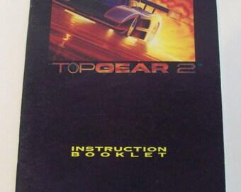 SNES Top Gear 2 Manual Only Super Nintendo
