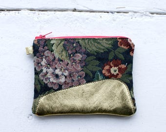 Tapestry and Gold handy Ally purse