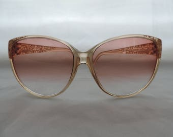 vintage pink sunglasses 70's boho sunglasses Foster Grant clear spatter retro eyewear new old stock